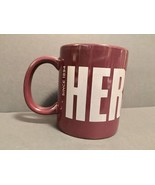 Hershey's Chocolate Logo Brown Coffee Mug Cup Grey Block Letters New - $7.69
