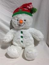 Build a Bear Workshop Plush Boy Snow man Stuffed animal toy Christmas Winter - $18.69