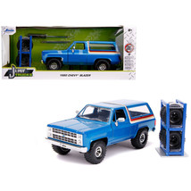 1980 Chevrolet Blazer Blue Metallic with Stripes with Extra Wheels Just ... - $44.11