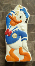 Disney Donald Duck Plastic Bank Vintage - $16.99