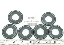 (6) NEW RUBBER FAB 40MPE-Z-XR-100 EPDM CLAMP GASKETS METAL DETECTABLE 11Z819 image 1