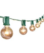 50Ft G40 Globe String Lights with Bulbs Outdoor Market Lights for Indoor... - $30.87