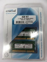 Crucial 2-2GB 204PIN SODIMM DDR3 256Mx64 Memory Module 4GB Kit CT2KIT256... - $29.69