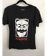 Mr Robot Mens Shirt M Medium Black fsociety Loot Crate Exclusive Graphic... - $29.69