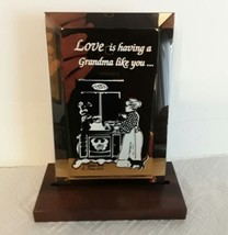"Dacra Glass Mirrored Love Is Having A Grandma Like You Plaque  4"" x 6"" w... - $15.00"