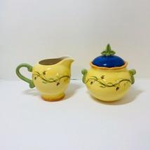 Creamer Sugar Bowl with Lid The Secrets of Pistoulet Jana Kolpen Pfaltzgraff - $25.15