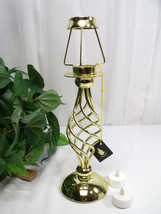 Partylite Golden Paragon Lamp (Now Retired) w 2 Bonus Electric Tealights - $35.00