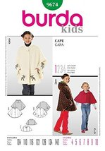 Burda Children's Sewing Pattern 9674 - Cape Sizes: 4-10 - $12.74