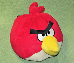 ANGRY BIRDS PILLOW HEAD PLUSH ROVIO STUFFED ANIMAL RED CHARACTER COMMONW... - $14.85