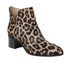 Women's Franco Sarto Reeve Bootie Camel Sahara Leopard Brahma Hair - $188.17
