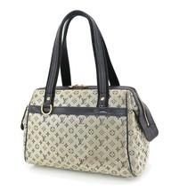 Authentic LOUIS VUITTON Josephine PM Blue Mini Lin Hand Bag Purse #35127 - $329.00