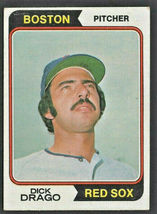 Boston Red Sox Dick Drago 1974 Topps Baseball Card # 113 - $0.50