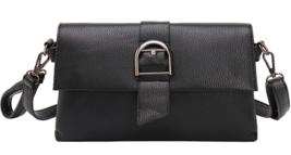 Black Medium Shoulder Bags Fashion Messenger Bags Leather Purse P422 - $30.00
