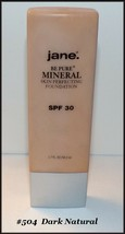 "Jane ""BE PURE"" Mineral Skin Perfecting Foundation #504 Dark Natural  FRE... - $12.95"