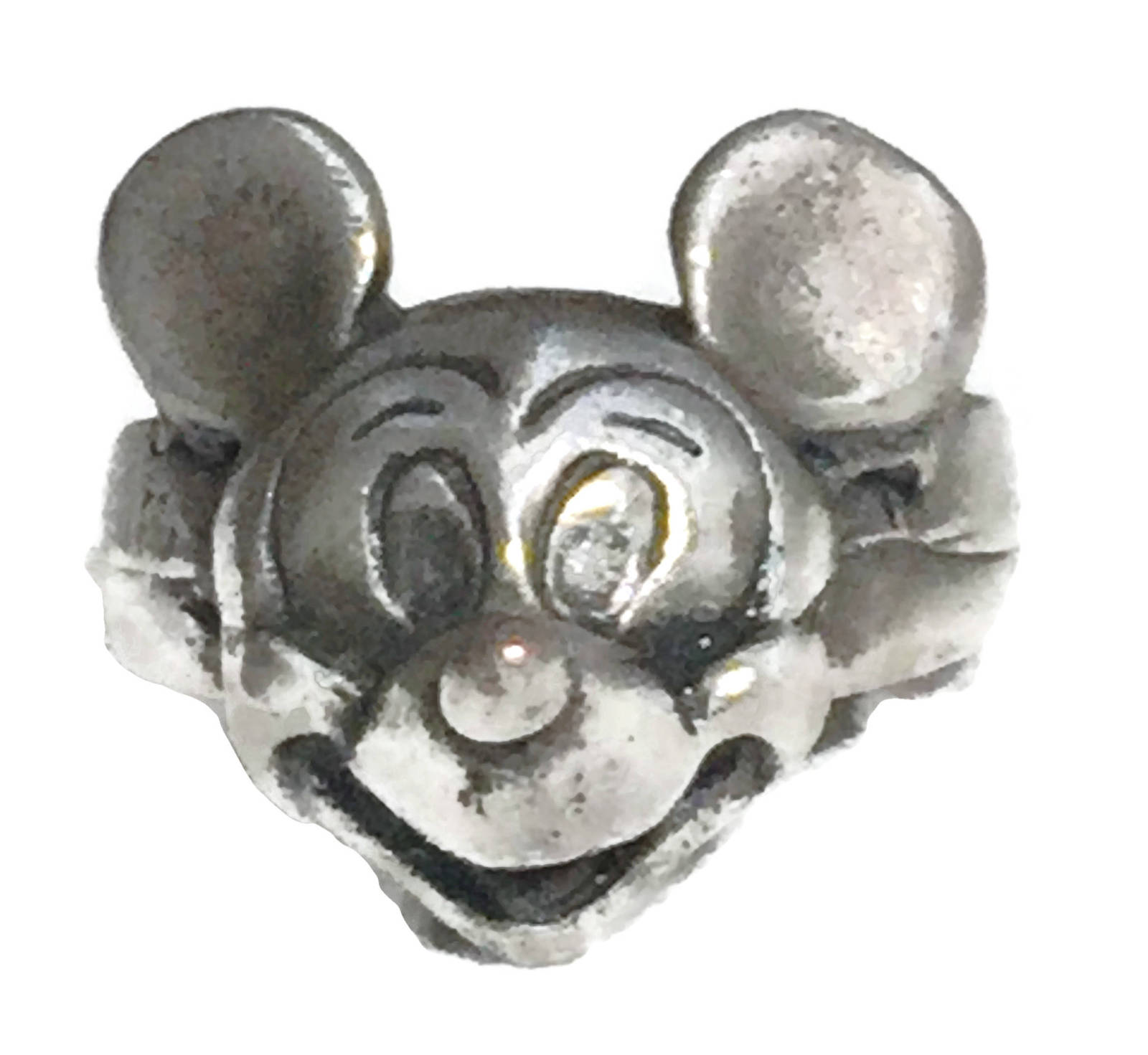 Vintage Mickey Mouse Disney Sterling Silver Ring Size 5 Children Cartoon Jewelry