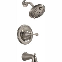Porter Single-Handle 3-Spray Tub and Shower Faucet in Brushed Nickel (Va... - $158.94