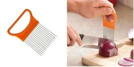 Onion Holder Kitchen Gadgets Handy Stainless Steel Tomato Slicer Vegetab... - €9,10 EUR