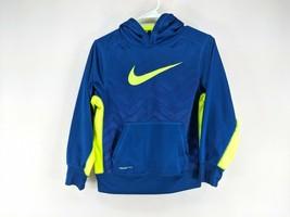 Nike Hoodie Youth Sz Medium Blue Yellow Chevron (w) - $18.99