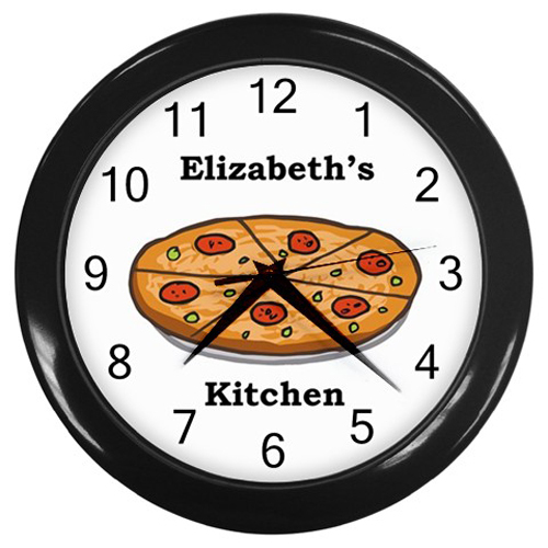 Personalized Pizza Kitchen Wall Clock Wall Clocks