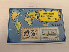 Gibraltar Operation Raleigh s/s mnh 1988    stamps - $2.99