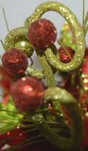 Regency int MTX45622 Red Green Poinsetta Curly Spray Decorative Balls image 5