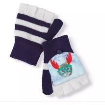 NEW Pop Top Gloves Cat Kitten and Antler Christmas Fold Over Convertible... - $4.90