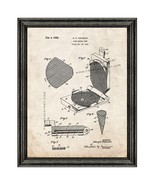 Cake Baking Iron Patent Print Old Look with Black Wood Frame - $24.95 - $109.95