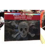 Premium Iron On Art Studs Fashion Design Skull Design With Crossbones De... - $6.15