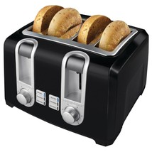 BLACK+DECKER T4569B 4-Slice Toaster, Bagel Toaster, Black - $48.42