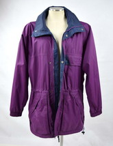 HELLY HANSEN Purple Hooded Lined Weather Resistant Ski Camp Hike Jacket ... - $19.79