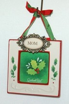 Grasslands Road 455179 Mom Christmas Picture Frame Colors Red and White image 1