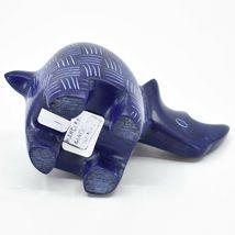 Tabaka Chigware Hand Carved Kisii Soapstone Blue Rhinoceros Rhino Figure Kenya image 5