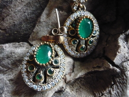 Paranormal Powerful Male And Female Djinn 2 Team Earring Emaralds - $600.00