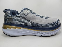 Hoka One One Bondi 5 Sz 12.5 M (D) EU 47 1/3 Men's Running Shoes Silver 1014757