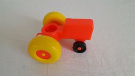 """VINTAGE LITTLE PEOPLE FARM TRACTOR 4"""" REPLACEMENT TOW HITCH ORANGE FISHE... - $4.94"""