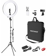 Neewer Advanced Ring 2,4g 48cm LED Light Adjustable LCD Screen and Contr... - $256.31