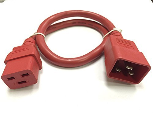 Primary image for RiteAV - Heavy Duty Extension Power Cord, C19 TO C20, 12AWG, 20 AMPS, 250V (Red,