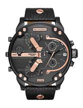 Diesel DZ7350 Mr. Daddy 2.0 Chronograph Black Dial Black Leather Men's W... - $158.43 CAD