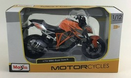 Maisto Motorcycles KTM 1290 Super Duke R 1:12 Die Cast Metal Orange Bike... - $19.75