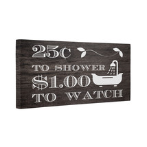 Vintage Bathroom Art CANVAS Wall Decoration - $30.50