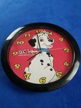 Disney 101 Dalmations wall clock dog vintage 90's toy - $20.29