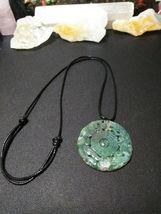 Necklace, Yin-Yang Symbol W/ Dragon Hand Carved Natural Jasper  Women or Men image 5