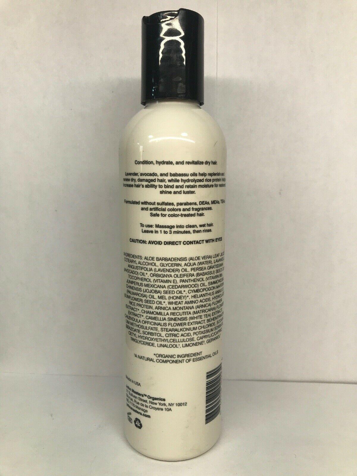 John Masters Organics Conditioner For Dry Hair 8 Ounce w/ Lavendar & Avocado image 3
