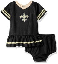 NFL New Orleans Saints Infant Dazzle Dress & Panty Size 3 Month Youth Ge... - $23.93