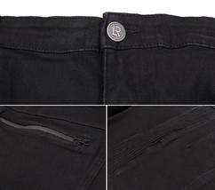 LR Scoop Men's Casual Stretch Denim Pants Moto Quilt Zipper Fashion Solid Jeans image 4