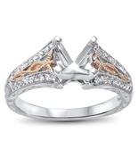 14K Two Tone Gold .19 Carat Semi Mount Ring - $484.99