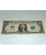 2009 One Dollar Bill US Note Low Even # 0 2 4 240224420 Fancy Serial Number - $14.09