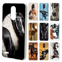 Great Beautiful Horses Running design transparent clear hard case cover ... - $12.93+