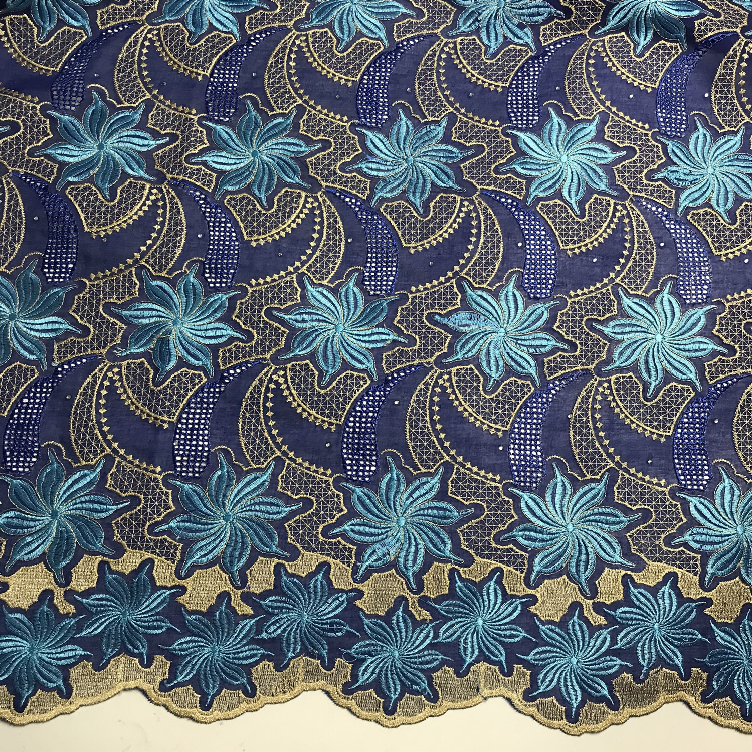 Sewing African Cotton Swiss Voile Lace High Quality Nigerian Big Fabric Dress 5Y