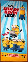 MINIONS Cartoon Stuart Kelvin & Bob Blue Color Strip Daily Use 34 x 80 cm TOWEL - $10.99